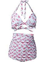0400106236b48 ... Splice Sailor Nautical Halter Stripe One Piece Swimwear. $20.99 Prime. Futurino  Women's Vintage 50s Flamingo Print High Waist Bikini Sets Swimsuit