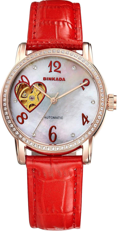 BINKADA自動機械ホワイトダイヤル彼女はWomen 's Watch # 7073 W02 – 4 B01DZLZ4GU