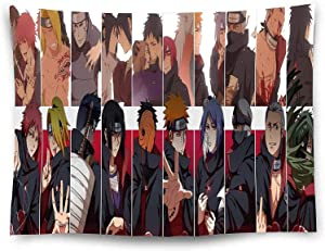 Akatsuki Tapestry 80x60 Inch Japanese Anime Naruto Wall Tapestries Extra Large Home Decor for Bedroom, Living Room, Dinning Room