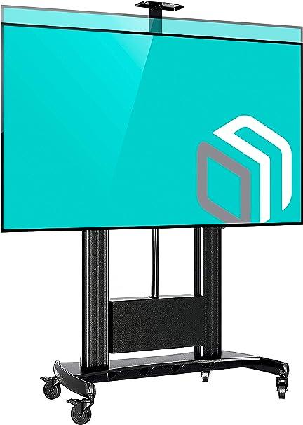 ONKRON - Soporte universal para televisor con ruedas de 60 pulgadas a 100 pulgadas con pantalla