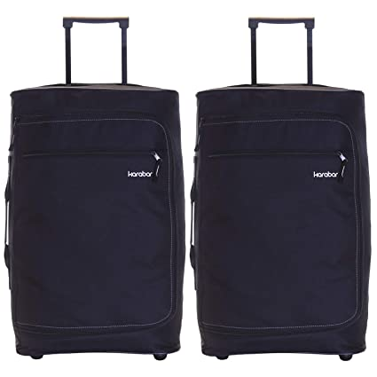444b038ac135 Set of 2 Super Lightweight Cabin Approved Wheeled Bags (Black)   Amazon.co.uk  Luggage
