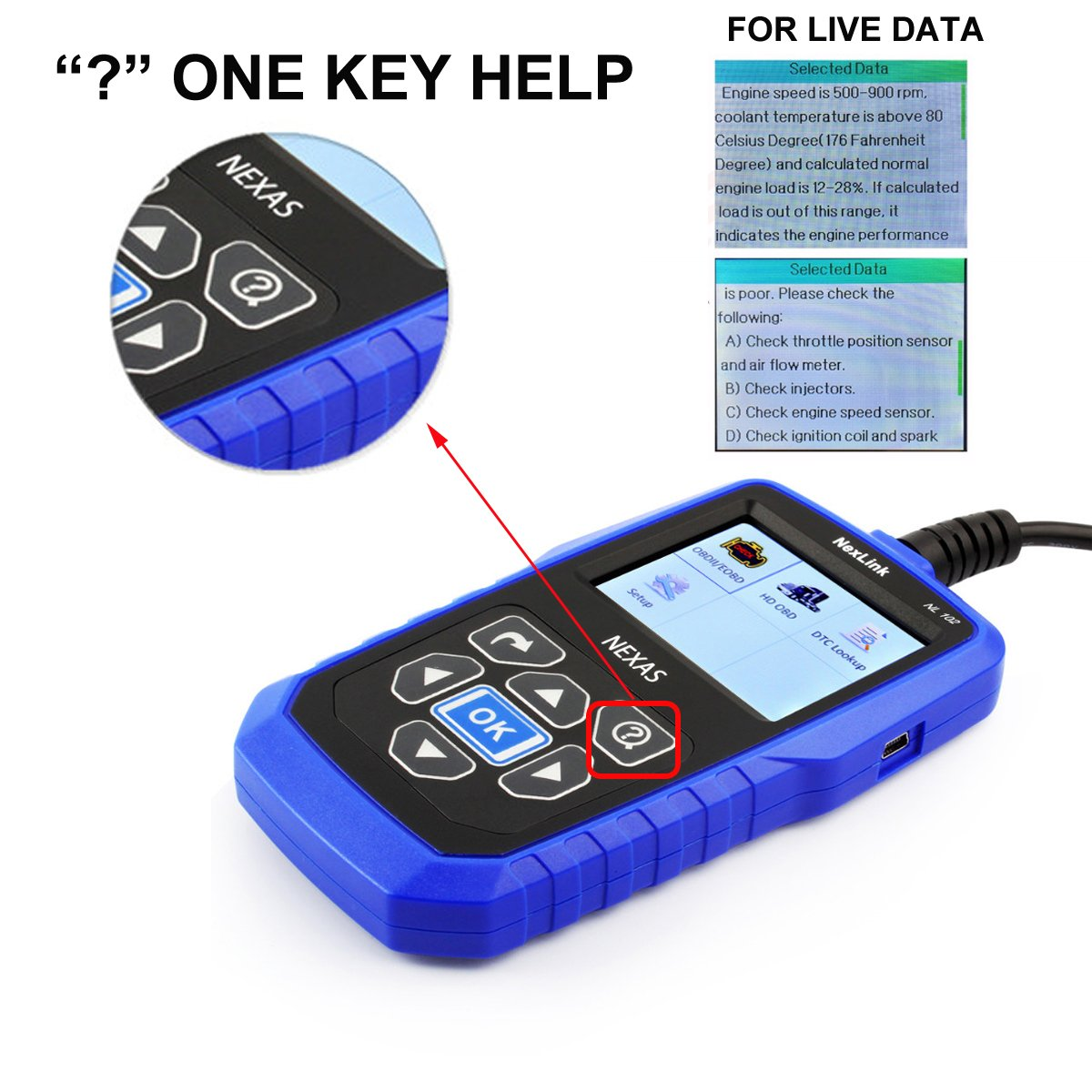 Nexas Heavy Duty Truck Scanner Nl102 Obd Eobd Hdobd Hino Engine Coolant Blue Diagnostic Scan Tools Abs Transmission Check Trucks Cars 2 In 1 Codes