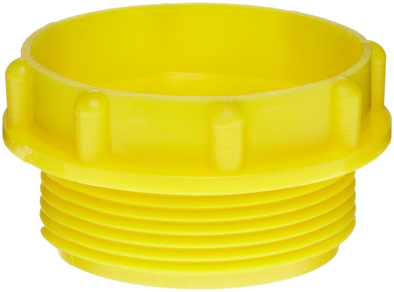 Kapsto 700 M 36 x 1.5 Polyethylene Screw Plug, Yellow, 44 mm Tube OD (Pack of 100) Poppelman Plastics 70036150000