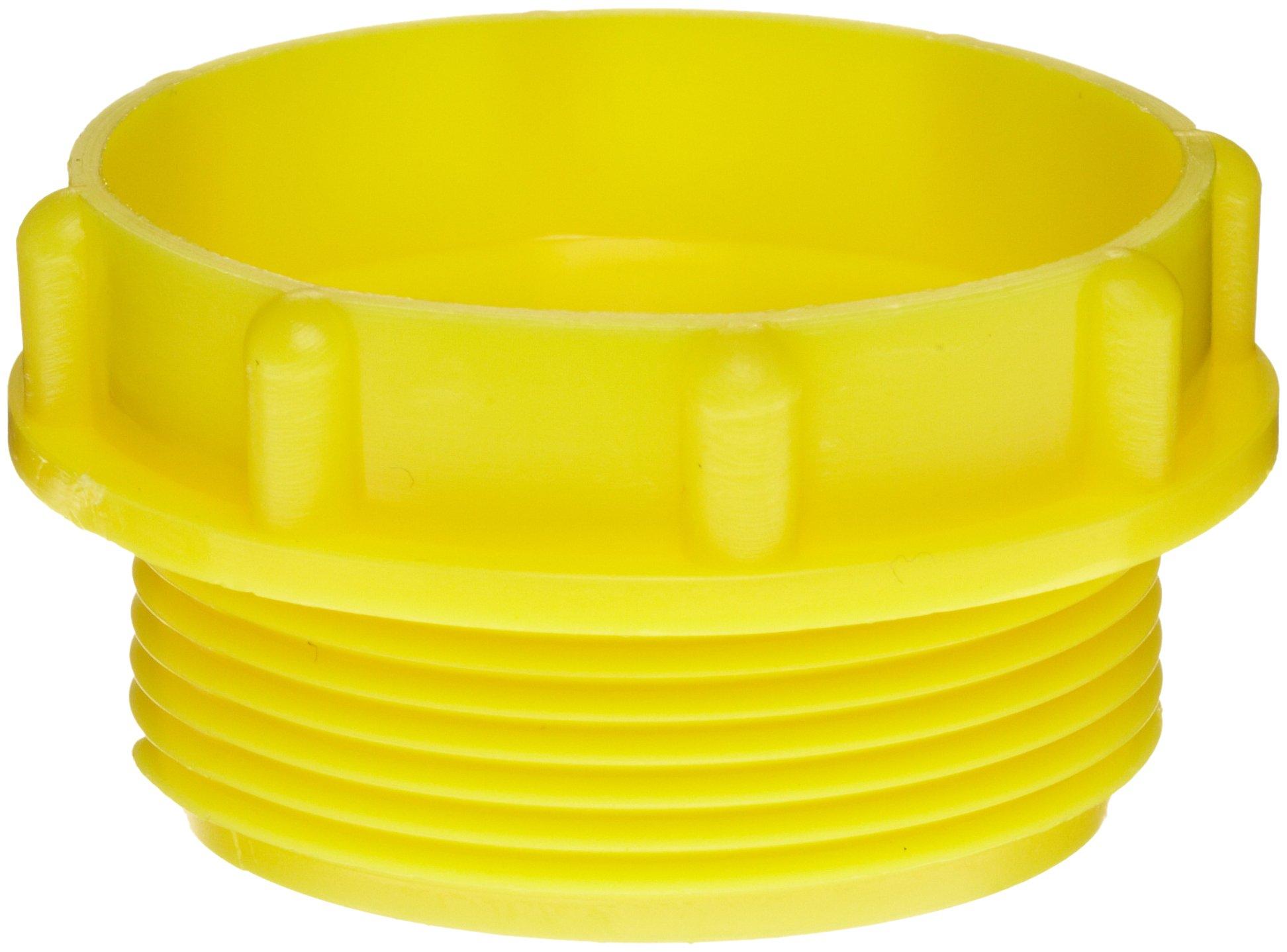 Kapsto 700 M 36 x 1.5 Polyethylene Screw Plug, Yellow, 44 mm Tube OD (Pack of 100)