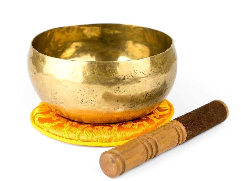 Campana nepalese in ferro battuto con accessori, peso 600-700g - 1200 - L