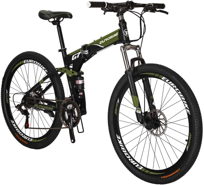 Eurobike Folding Bike TSM G7 Bicycle 27.5Inch Dual Disc Brake Bike