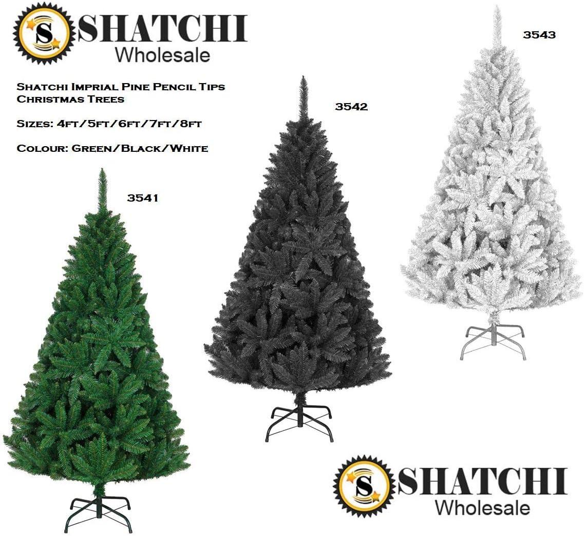 240 cm 2,4 m Weihnachtsdekoration Schneewittchen 2,4 m einfache Montage buschige Qualit/ät luxuri/ös Shatchi 3543 Weihnachtsbaum Kaiser-Kiefer