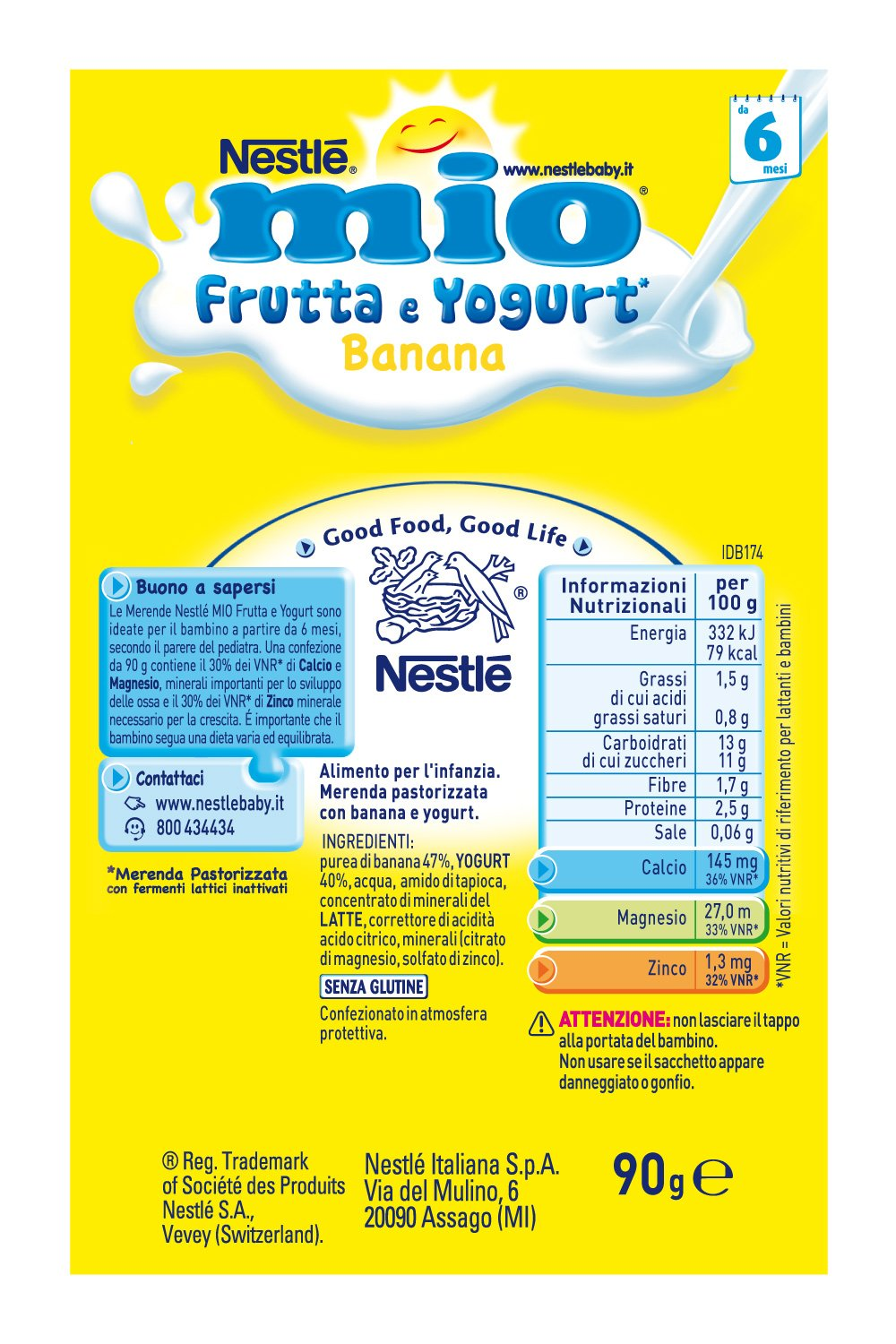 Amazon.com: Nestle My Fruits From Squeeze Yogurt And Banana 90ml: Health & Personal Care