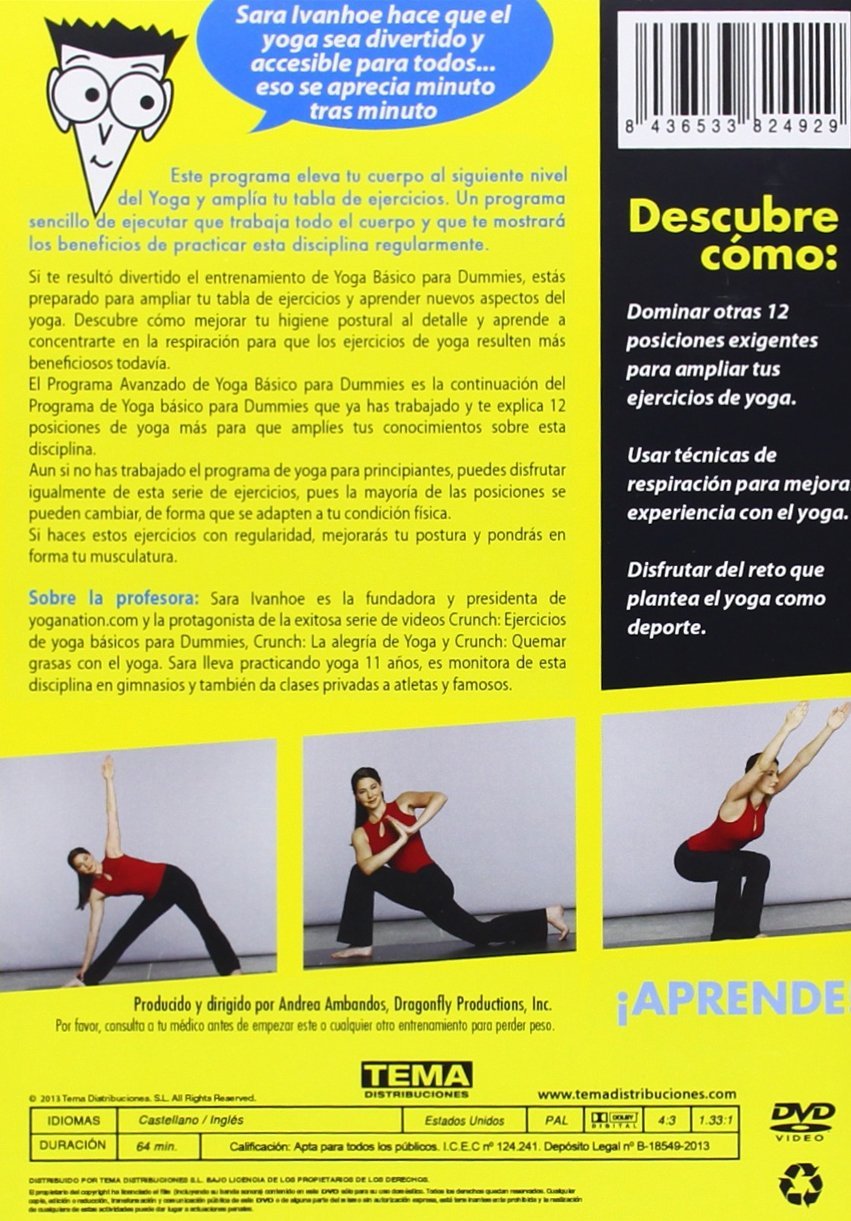 Yoga Avanzado Para Dummies [DVD]: Amazon.es: Cine y Series TV