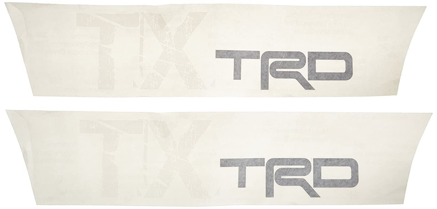 Toyota Genuine Accessories PT929-35104 Black TRD Body Graphics with White TX Lettering