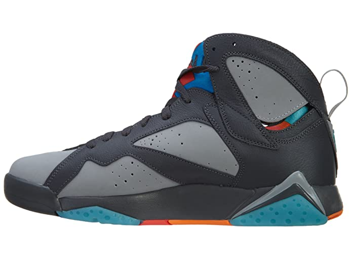 98f172bbf2f Amazon.com | Jordan Air 7 Retro Barcelona Days Men's Shoes Dark Grey/Turquoise  Blue-Wolf Grey-Total Orange 304775-016 | Fashion Sneakers
