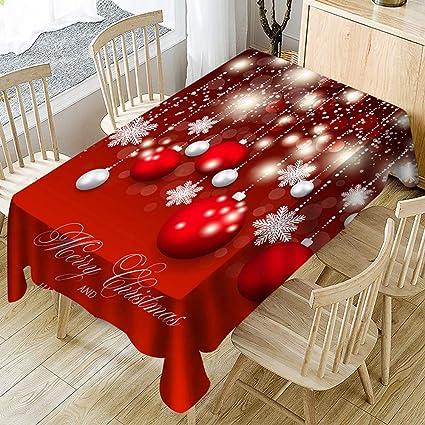 4850742c9e JJHR Tovaglie Decorazioni Natalizie Tovaglia Rossa Natalizia Per Soggiorno:  Amazon.it: Fai da te
