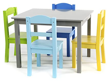 e1c9daf8ab2 Image Unavailable. Image not available for. Color  Tot Tutors TC451  Elements Collection Kids Wood Table   4 Chair Set ...