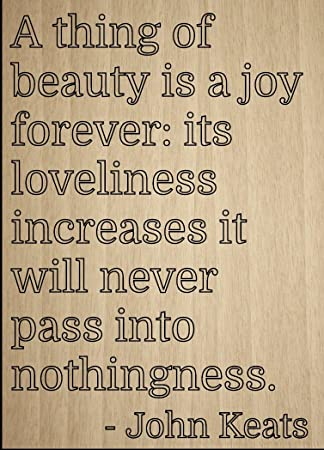 Amazon A Thing Of Beauty Is Joy Forever Its Quote By