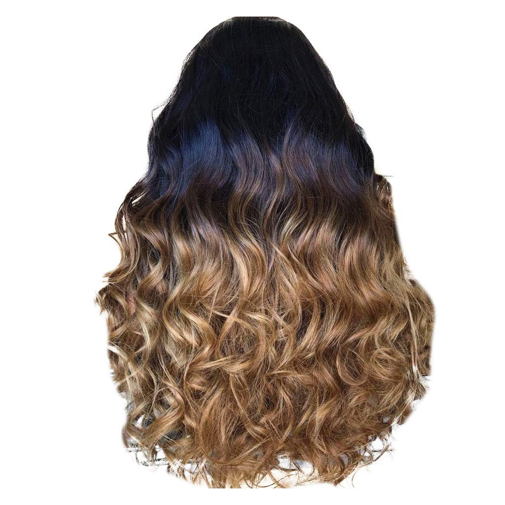 Wig,SUPPION Daily Natural Curly Lace Front Synthetic Wig Fashion Women Gradient Long Wigs - 55CM - Cosplay/Party/Costume/Carnival/Masquerade (Multi-Colored)