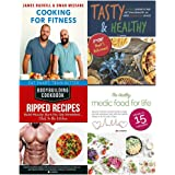 Cooking for fitness [hardcover], bodybuilding cookbook, tasty and healthy, healthy medic food for life 4 books collection set