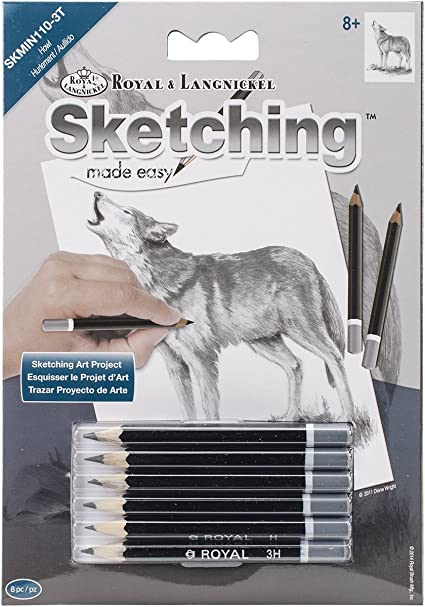 ROYAL BRUSH Mini Sketching Made Easy Kit Dolphins 5 by 7-Inch