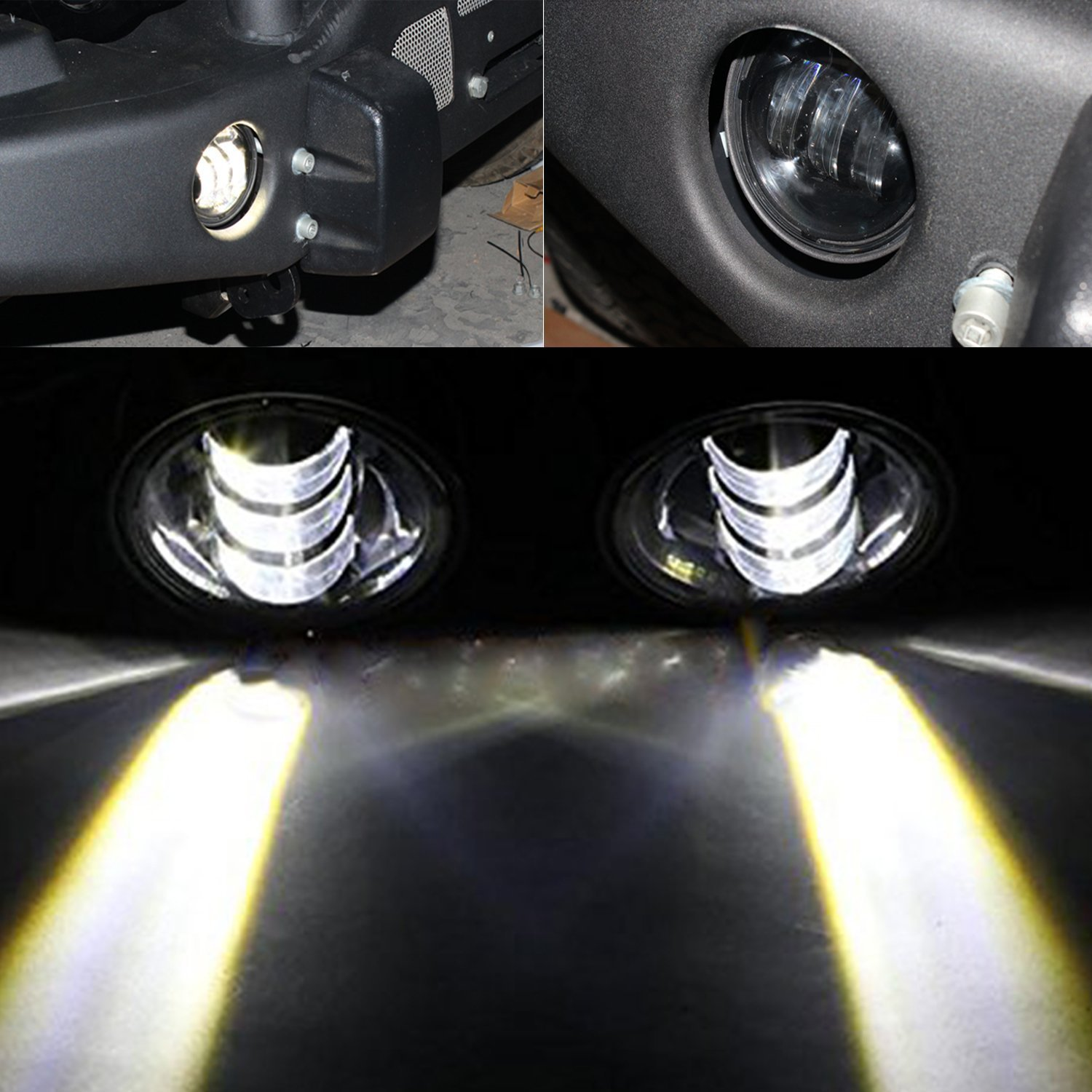 Amazon 4 led fog lights for jeep wrangler jk led fog lamps amazon 4 led fog lights for jeep wrangler jk led fog lamps bulb auto len projector headlight driving offroad lamp for jeep wrangler dodge chrysler publicscrutiny Image collections