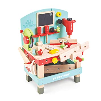 Terrific Le Toy Van My First Wooden Tool Bench Playset With Saw Hammer Clamp Screwdriver Spanner Nuts And Bolts Toys Gamerscity Chair Design For Home Gamerscityorg