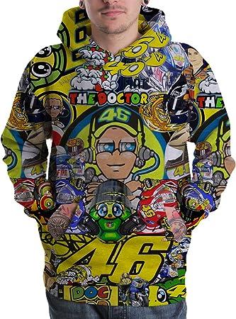Unisex Valentino Rossi VR46 3D Full Print Pullover Hoodie Sweatshirt