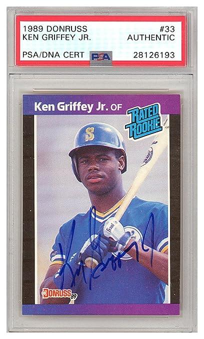 Ken Griffey Jr Autographed Signed 1989 Donruss Rookie Card
