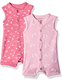 5e341cb7c26 Hanes Ultimate Baby Flexy 2 Pack Sleeveless Rompers
