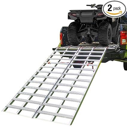 Aluminum Atv Ramps >> Amazon Com Empirecovers Bi Fold Aluminum Atv Ramps Xl 6 8 Long