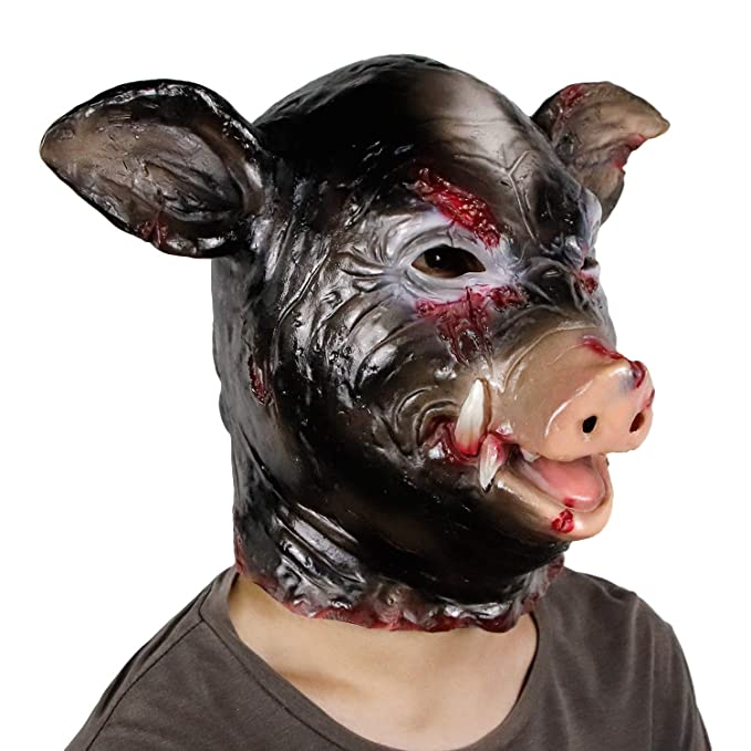Halloween Horror Animal Mask Masquerade Pig Head Helmet Mask