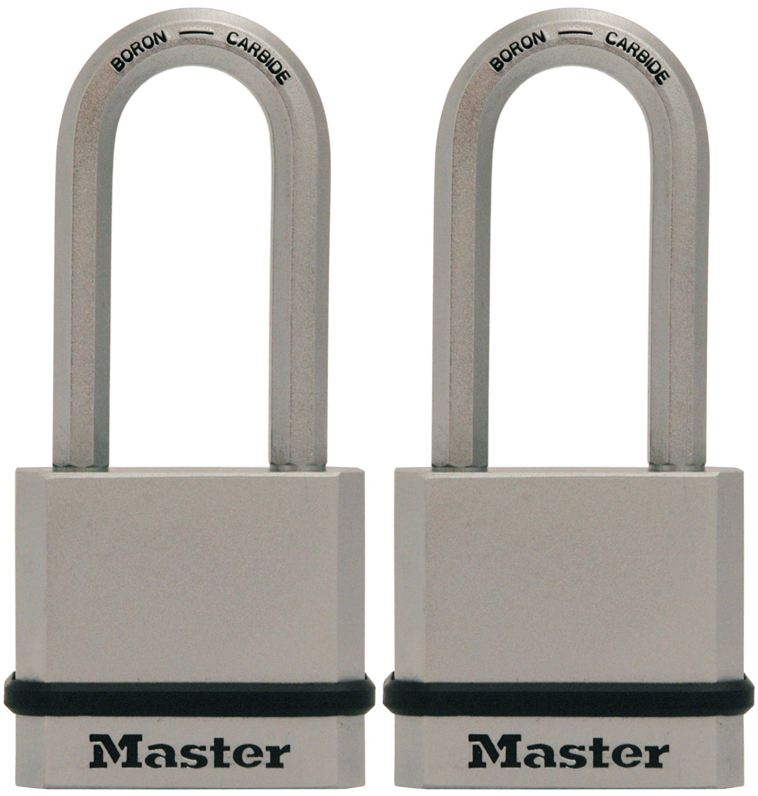 Master Lock Padlock, Magnum Solid Steel Lock, 1-3/4 in. Wide, M530XTLH (Pack of 2-Keyed Alike)