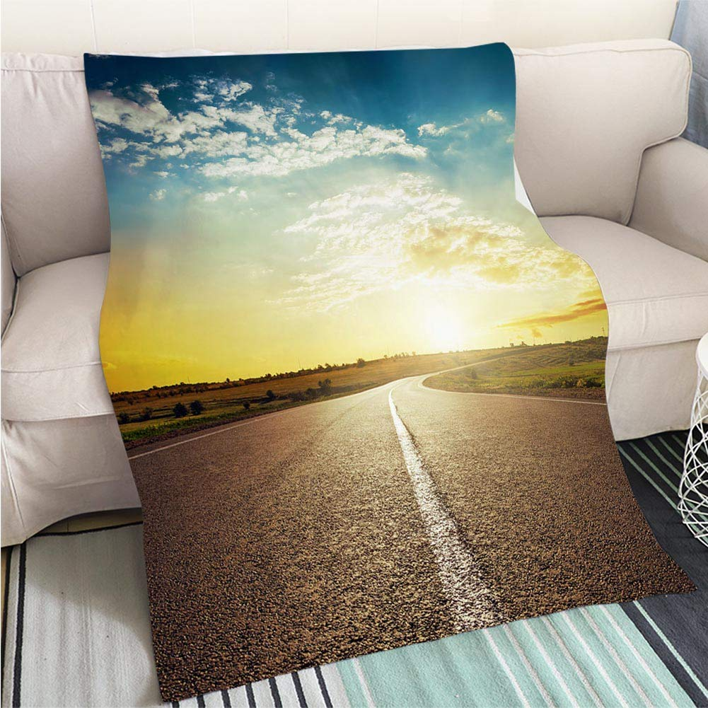 color17 47 x 80in BEICICI Super Soft Flannel Thicken Blanket Sunset Above The Clouds Sofa Bed or Bed 3D Printing Cool Quilt