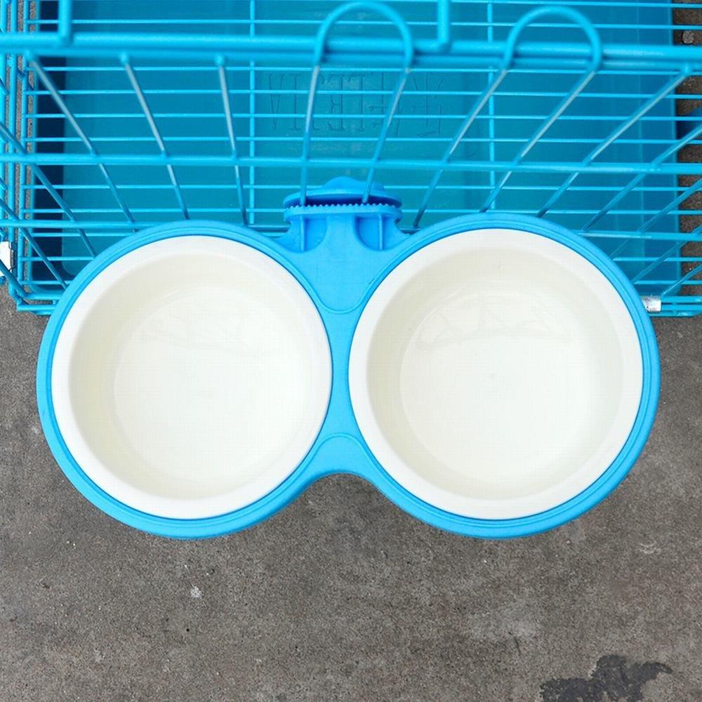 WU-pet supplies Wall mount 狗 bowl pet bowl dog hanging double bowl cat bowl cat cage wall hanging cooking pots of water basin dog bowl cat bowl