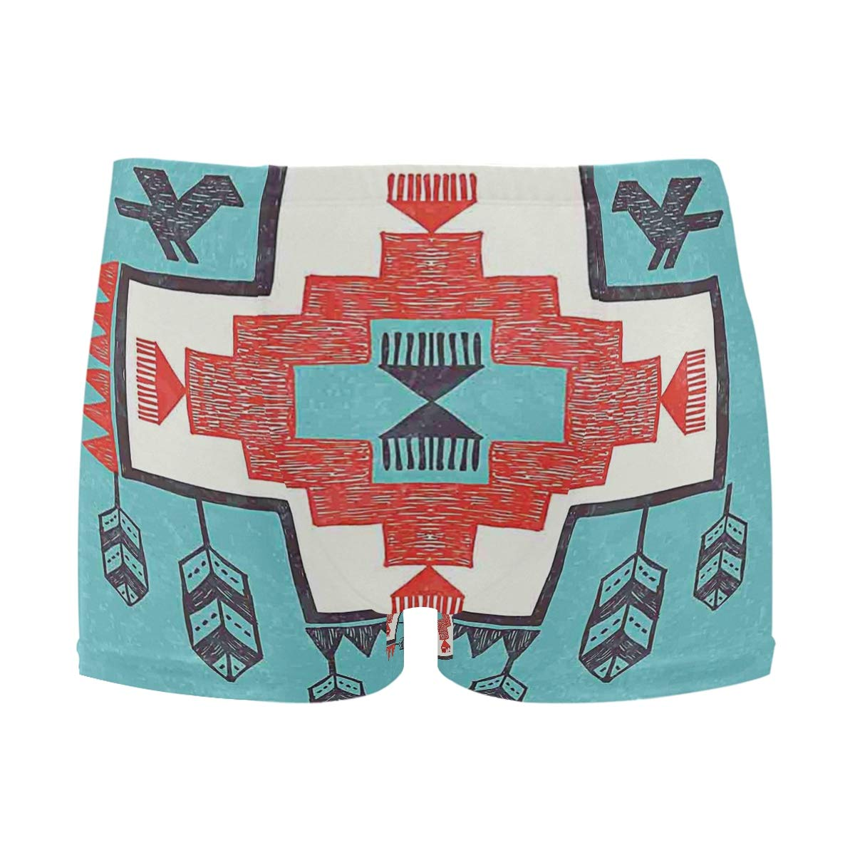 Ative Ethnic Indian Aztec Dreamcathcher Birds Mens Swimming Boxer Briefs Trunks Square Leg Swim Trunks Board Shorts