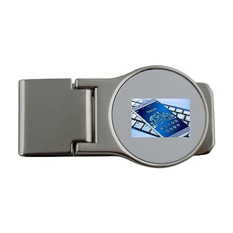 Metal dinero clip con funda para móvil, Smartphone, teclado, App