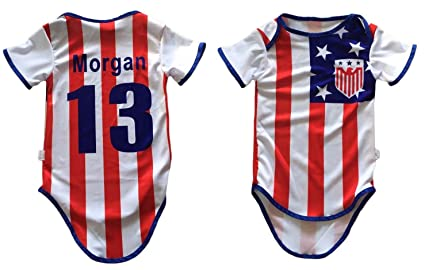 695440265ae World Cup Gear USA Team United States Soccer Jersey Baby Infant and Toddler  Onesie Romper Premium