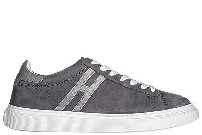 Hogan Herrenschuhe Herren Leder Schuhe Sneakers h365 Schwarz