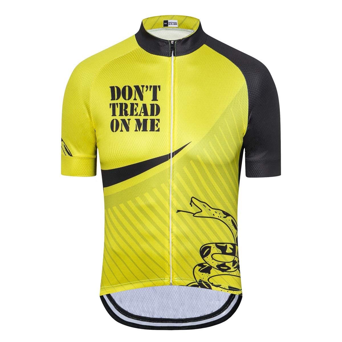 Cycling Jersey Short Sleeve USA Style Bike Tops with Pocket Reflective Stripe