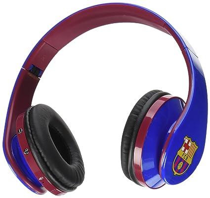 Subsonic FC Barcelona - Auriculares inalámbricos con micrófono, Color Azul