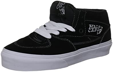 c54449375b Vans  quot 14oz Canvas Half Cab Sneakers (Black White) Men s Classic Skating