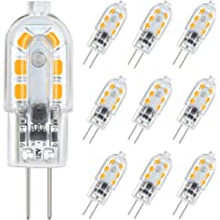 DiCUNO G4 LED Light Bulb Bi-Pin Base 1.5Watt 15-20W Halogen Bulb Equivalent 12 Volt Warm White 3000K 180 Lumen Non-dimmable Pack of 10