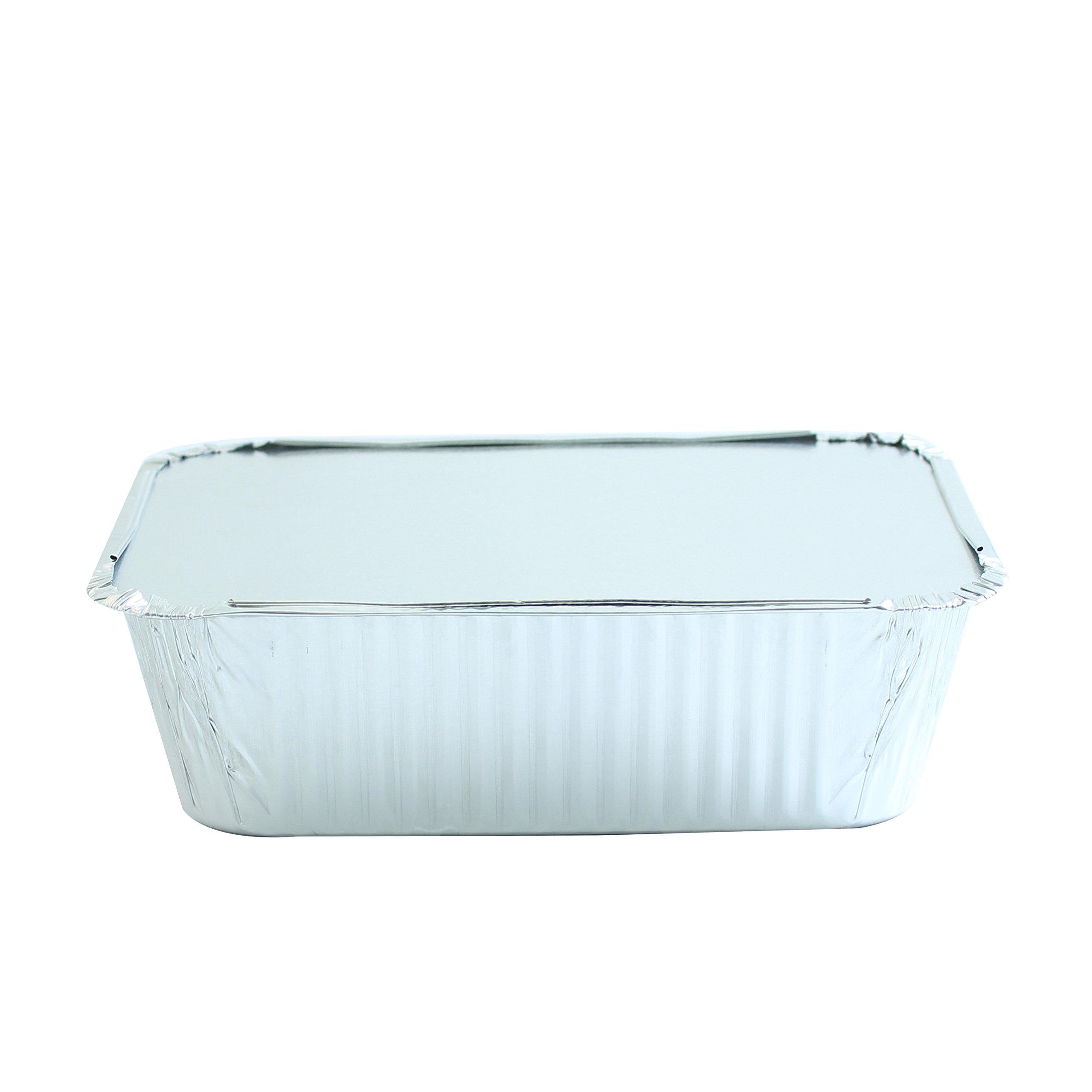 Party Bargains Premium Quality Durable, 9 X 7 Aluminum Foil Pans 5 Lb Capacity with Board Lids (50 Count) by Party Bargains (Image #5)