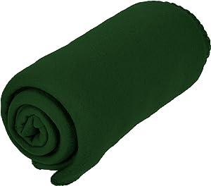 Micro World Cozy 50 X 60 Fleece Throw Blanket -Green
