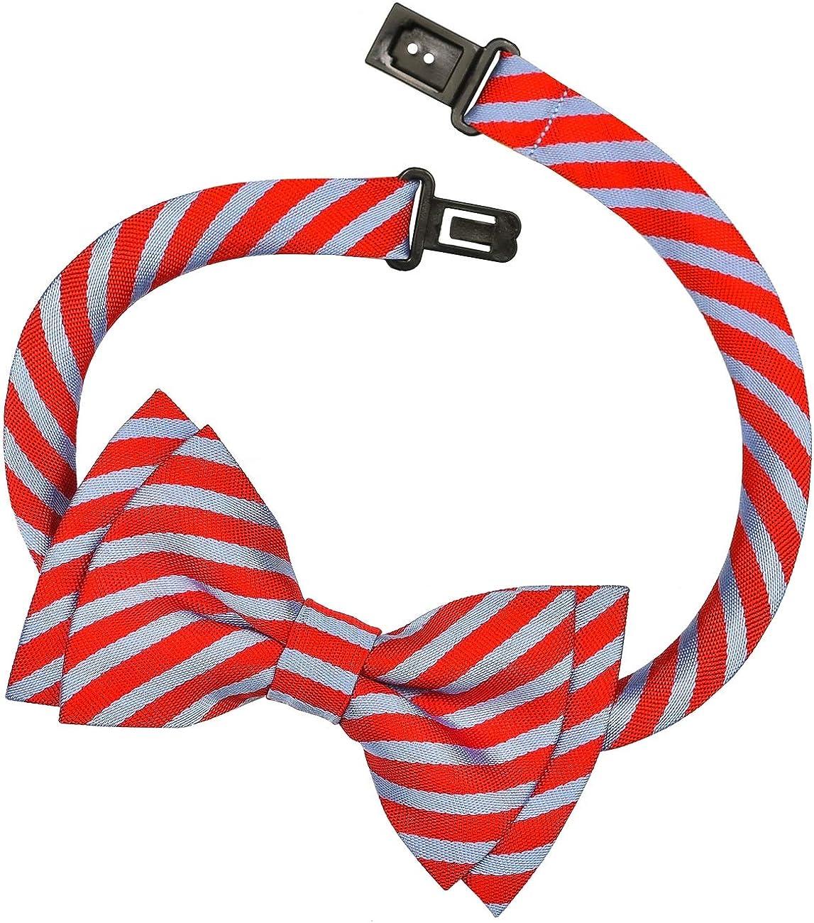 Retreez Matte Classic Striped Woven Microfiber Pre-tied Boys Bow Tie