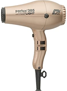 Parlux Hair Dryer 385 Power Light - Secador de pelo, color dorado suave