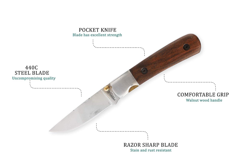 Perkin Cuchillo de Bolsillo de Supervivencia Cuchillo Plegable Cuchillo de Caza Camping al Aire Libre FN1920