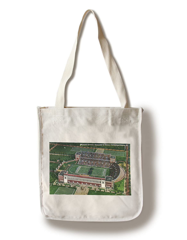 champaign-urbana、イリノイ – イリノイ大学; Aerial View Of Memorial Stadium Canvas Tote Bag LANT-26805-TT B018410QI2  Canvas Tote Bag