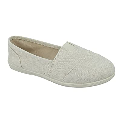 SODA Shoes Women's Obji Rnd Toe Casual Flat with Padded Insole (5.5 B(M) US, Beige Linen) | Loafers & Slip-Ons