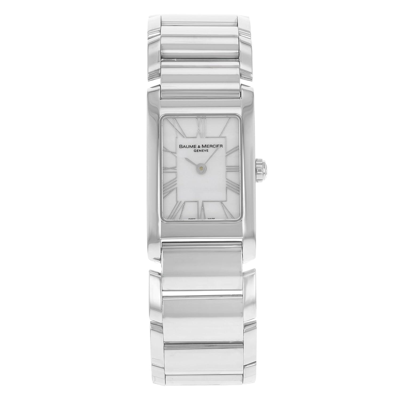 Baume & Mercier Edelstahl Hampton Manchette Damen-Armbanduhr