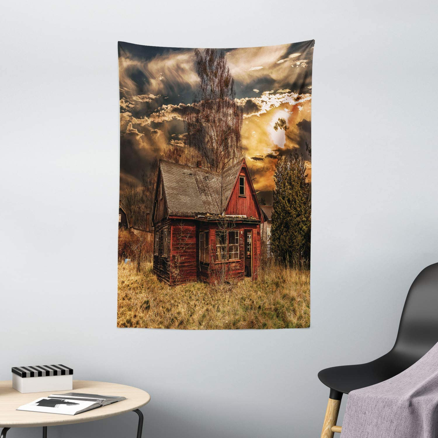 Amazon Com Ambesonne Scenery Tapestry Scary Horror Movie Themed