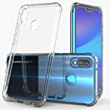 Brooben Huawei P20 Lite ケース ガラス背面 TPUバンパー 5.84インチ ネイキッド(クリア)