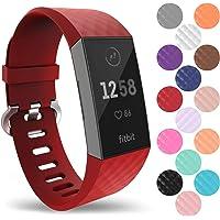 Yousave Accessories Bandjes voor Fitbit Charge 3, Siliconen Fitbit Charge 3 Polsband, Sportpolsband voor de Fitbit Charge 3 - beschikbaar in 15 kleuren